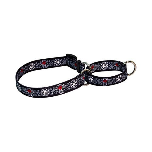 M Celtic Cross Martingale Control Dog Collar Size Medium 20  Long Made in The USA