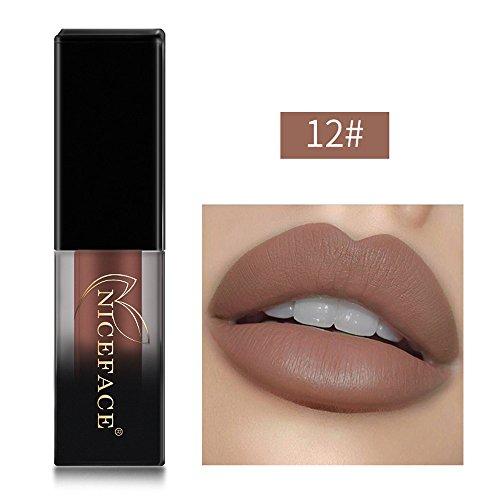 USLovee3000 Clearance New Lip Lingerie Matte Liquid Lipstick Waterproof Lip Gloss Makeup 18 Shades L