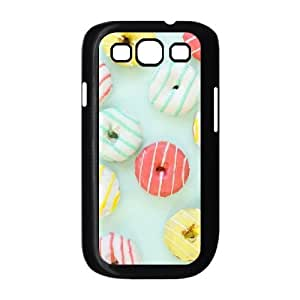 Jumphigh Mixed Donut Pattern Samsung Galaxy S3 Cases Scratch Resistant Mixed Donut Pattern, Cute Donuts, Mixed Donut Pattern Case for Samsung Galaxy S3 Mini I8190 [Black]