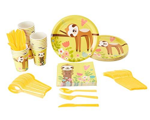 Disposable Dinnerware Set - Serves 24 - Cute
