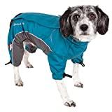 DOGHELIOS 'Blizzard' Full-Bodied Comfort-Fitted Adjustable and 3M Reflective Winter Insulated Pet Dog Coat Jacket w/Blackshark Technology, Medium, Blue