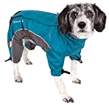 DOGHELIOS 'Blizzard' Full-Bodied Comfort-Fitted Adjustable and 3M Reflective Winter Insulated Pet Dog Coat Jacket w/ Blackshark Technology, X-Large, Blue