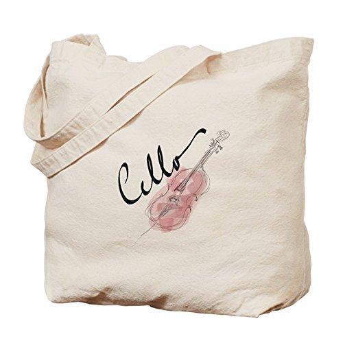 CafePress–Violonchelo gráfico–Gamuza de bolsa de lona bolsa, bolsa de la compra