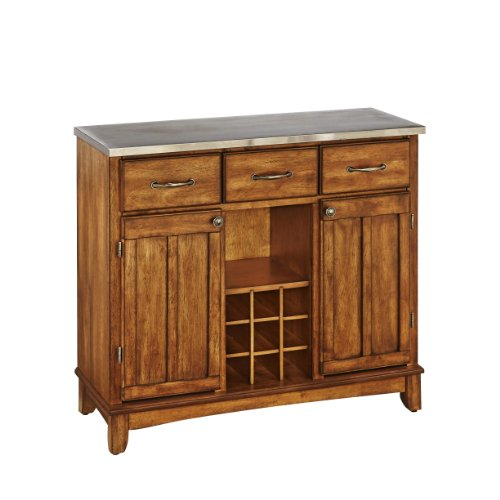 Buffet Of Buffets Cottage Oak With Stainless