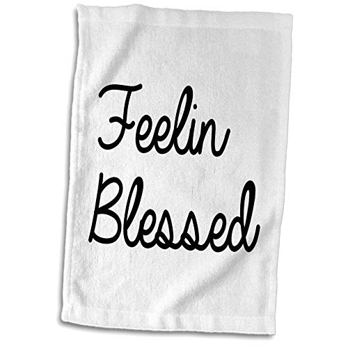 3dRose Tory Anne Collections Quotes - Feeling Blessed - 15x22 Hand Towel (twl_288759_1)