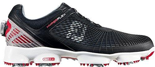FootJoy HyperFlex - Zapatos para hombre Negro / Rojo BOA