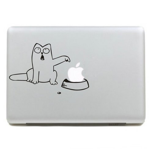 Raidfox Cat Vinyl Decal Sticker Laptop Cover Skin for Apple Macbook Air /Pro/Retina 11, 13, 15 Inch