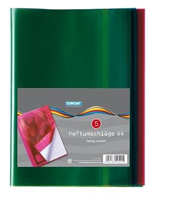 2x 5Stk Heftumschläge DIN A5 verschiedene Farben 10