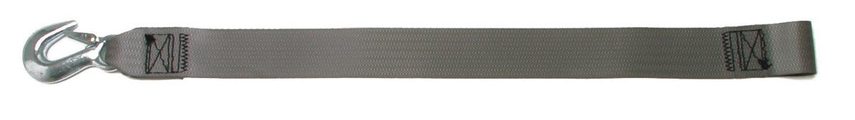 BoatBuckle Winch Strap with Loop End, Gray, 2-Inch x 20-Feet by BoatBuckle