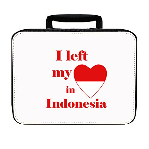 I Left My Heart In Indonesia Insulated Lunch Box Bag by Style in Print