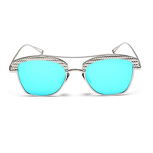 Libre de Gafas Personalidad al Semi UV Que Conducción Mujeres Lente de para Color Gu Sol Coloreada Marco Metal viaja C8 Montura Peggy Aire C8 sin Protección fO7pqRxw