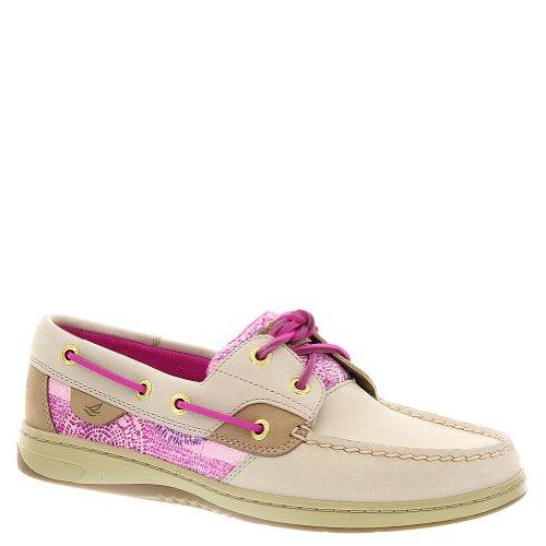 en's Bluefish 2-Eye Oat/Purple Dot (Sequins) Boat Shoe 12 M (B) ()