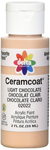 Delta Ceramcoat Light (Delta Creative Ceramcoat Acrylic Paint in Assorted Colors (2 oz), 2022, Light Chocolate)