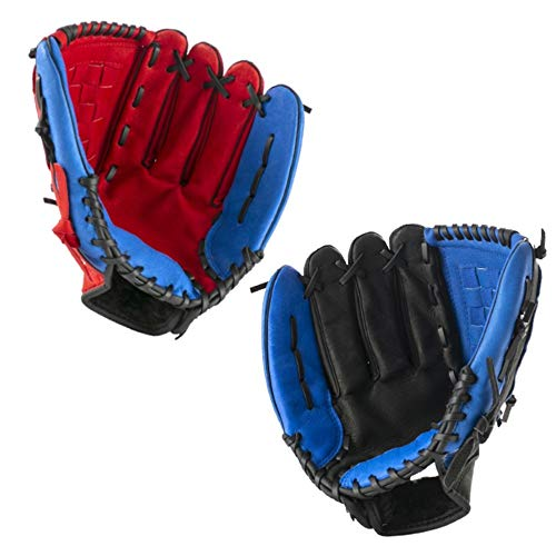 Training Gloves Baseball Gloves Thicken Child Junior Adult Catcher Infielder Softball Baseball Gloves Sport Gloves (Color : Blue-12.5in+Ball)