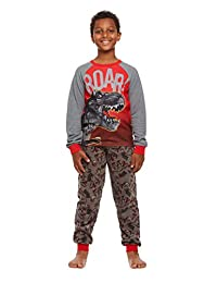 Jellifish Kids Boys 2-Piece Pajama Set, Long-Sleeve Thermal Top and Jogger Pants