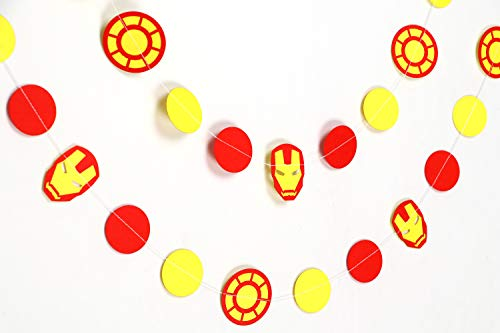 Gifttoys Ironman dot Garland - Birthday Decorations,Party Decorations,Party décor,Creative Decoration (Ironman Birthday Party Decoration)