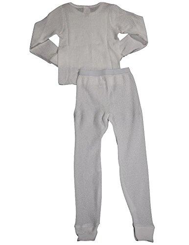 Indera - Little Girls' Long Sleeve Thermal Set 401ST, White 34209-Large