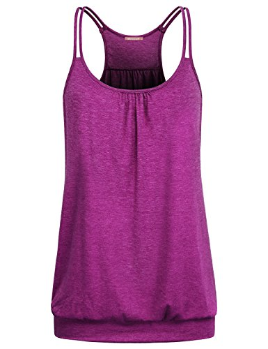 - Sleeveless Shirts for Women,Girls Exercise Tank Tops Athletic Sport Yoga Raceback Cami Dressy Draped Tunic Breathable Cool Camisole Red Large L US 12
