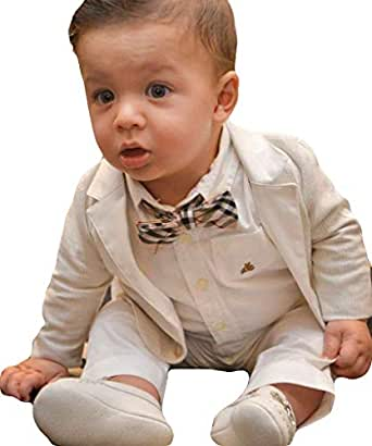 Amazon.com: Fenghuavip - Traje de bautizo para bebé, 3 ...
