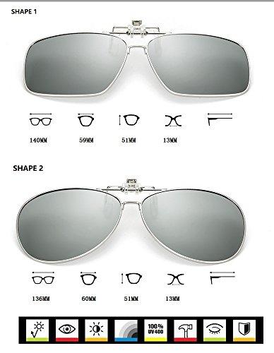 Anti Hombres para de piloto UV para Gafas Easy Go UVA para de Clip Shape de Sol Anti Clip UVA 1 Gafas polarizadas Bicicleta miopes Anti HD Shopping x6q8TxwAz