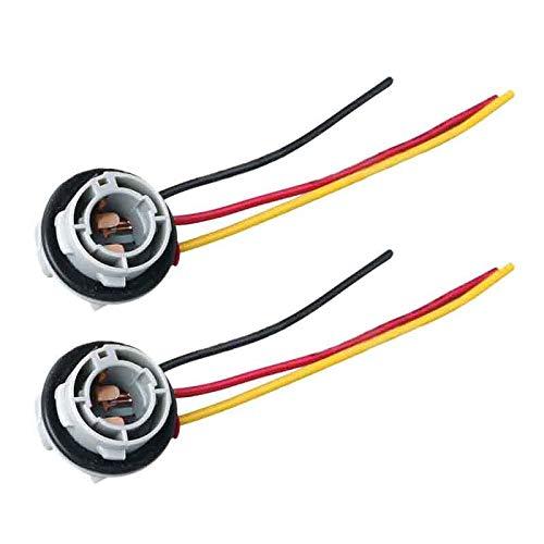Naliovker 2 Unids 1157 Bay15D Lamp Holder Bulbs P21 5W Adaptador Base Socket Conector Accesorios de Pl/ástico para Coche para Luz de Freno