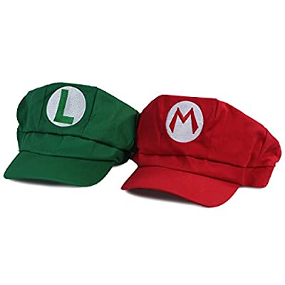 Landisun Costume Hat Anime Adult Unisex Cosplay Cap Red and Green