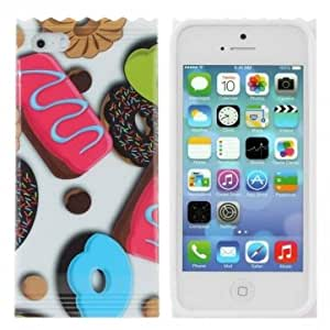 Biscuit Donut Print TPU Hard Back Case Cover For iPhone 5 5S