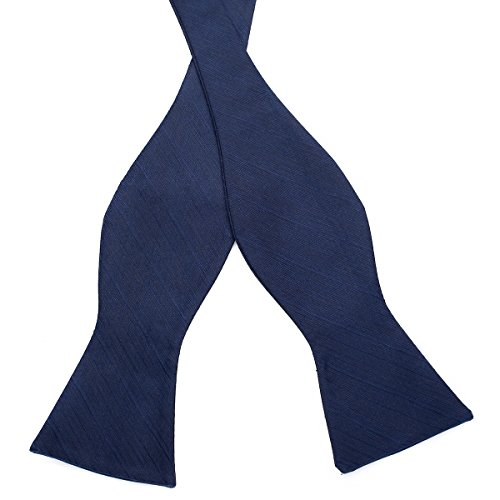 Mens Colors Tie Various Navy Self Exquisite Stripe Blue Bow PenSee Line Bowties Woven Silk SdWqa
