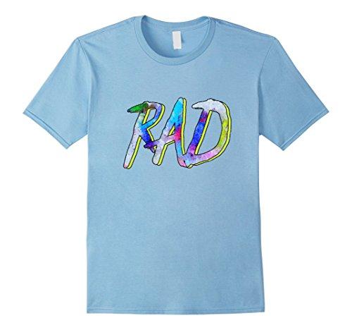 Mens RAD! - 80s Slang Hallowen Costume T-Shirt Medium Baby (Baby Hallowen)