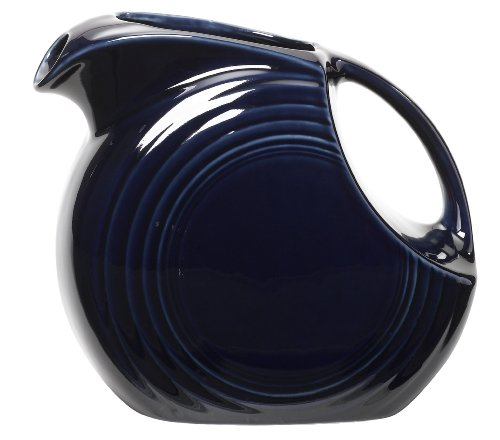 Fiesta 67-1/4-Ounce Large Disk Pitcher, Cobalt
