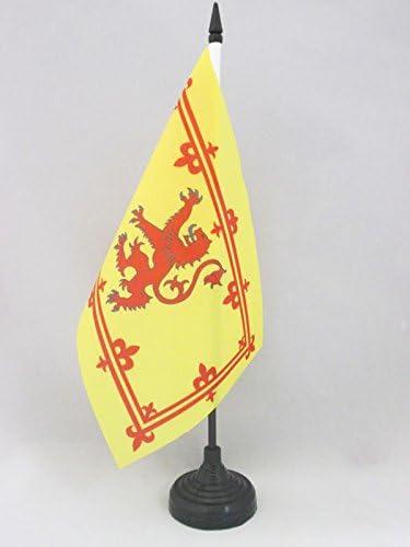 BANDERINA de DESPACHO ESTANDARTE Real ESCOC/ÉS 14 x 21 cm AZ FLAG Bandera de Mesa Reino DE Escocia 21x14cm