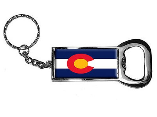 Graphics and More Ring Bottle-Cap Opener Key Chain, Colorado State Flag (KK0792)