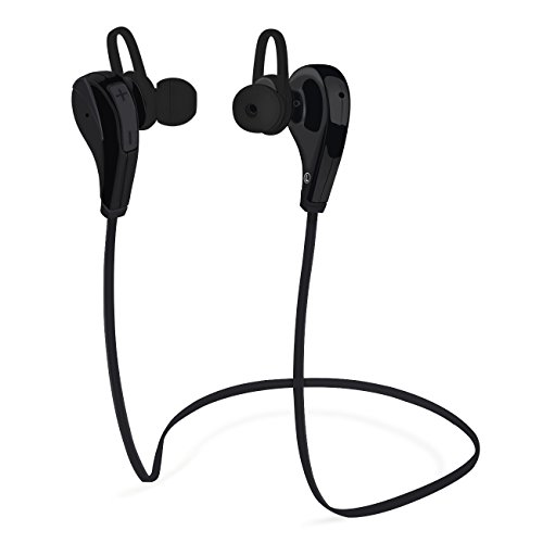 Vilso Bluetooth Headphones,Wireless Stereo Earbuds Sweatproof Running Headset In-Ear SportS with Microphone with Bluetooth 4.1, Balanced Audio, (Black)