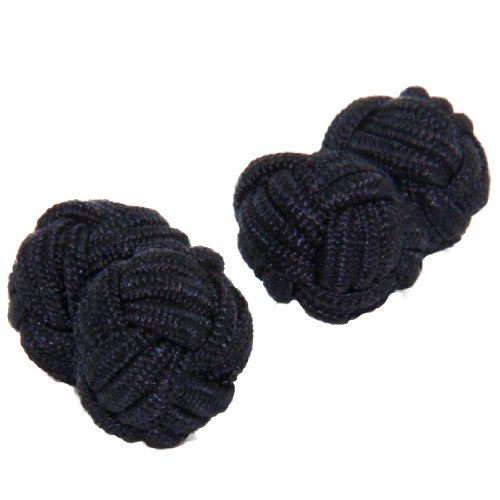 Black Silk Knot Cufflinks | Cuffs & Co