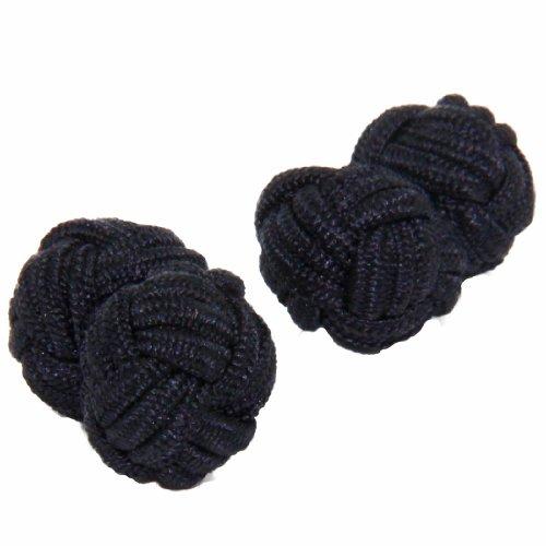 Black Silk Knot Cufflinks | Cuffs & Co