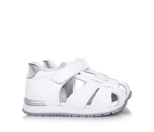 BALOCCHI - Weißer Schuh aus Leder, aus hochwertigen natürlichen Materialien, mit Klettverschluss, Mädchen