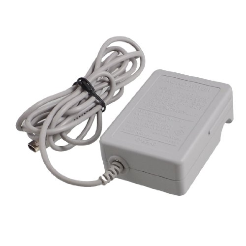 Gino US Plug AC 100-220V Gray Plastic Power Charger Adapter for Nintendo 3DS