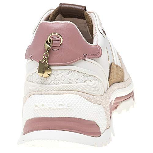 Mode Blanc C143 Coach Femme Baskets SRHHgq