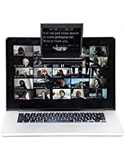 Little Prompter, The Compact Personal Teleprompter for DSLRs, Webcams, and Built-in Laptop Cameras, 70/30 Beamsplitter Glass, Use with iOS or Android