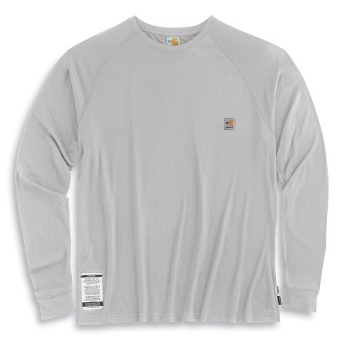 Amazon.com: Men's Carhartt Flame - resistant Force Long - sleeve T ...