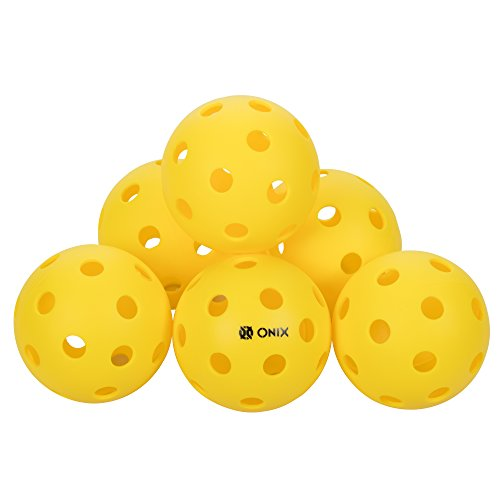 Onix Pure 2 Indoor Pickleball Balls - (6-Pack, Yellow)