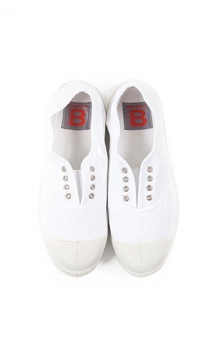Bensimon - Zapatillas para mujer blanco blanco, color blanco, talla 3 UK: Amazon.es: Zapatos y complementos