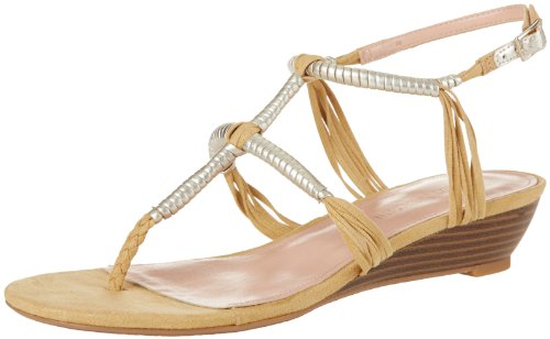 Enzo Angiolini Women's Khanna2, Natural/Light Gold Fabric, 8.5 M US