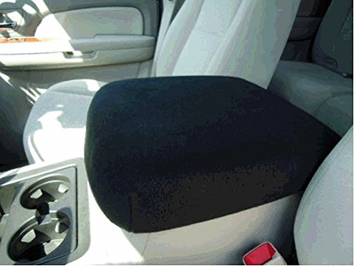 Photo 2010 Match - Car Console Covers Plus Fits Chevy Silverado, GMC Seirra, Denali, Yukon Truck 2007-2013 Fleece Center Armrest Cover for Center Console Lid Your Console Should Match Photo Shown Made in USA Black