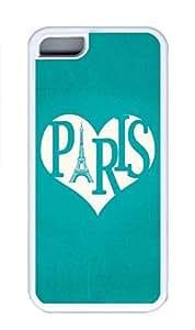 iPhone 5C Case, Personalized Custom Rubber TPU White Case for iphone 5C - Paris Cover