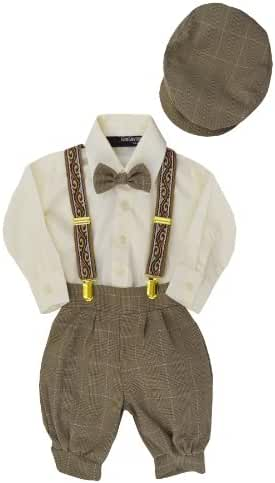 Gino Giovanni Boys Vintage Style Knickers Outfit Suspenders Set