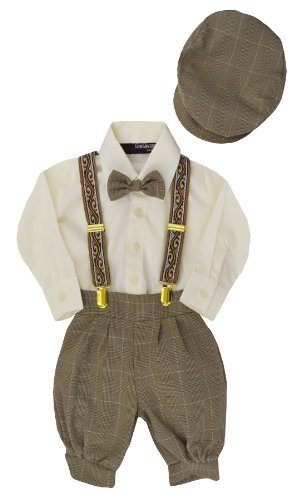 G284 Boys Vintage Knickers Outfit Suspenders (2T/2, - Girls Linen Shorts