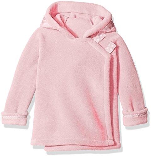 - Widgeon Little Girls Polar Tec Fleece Warm Plus Hooded Wrap Jacket with Dot Ribbon, Light Pink, 3
