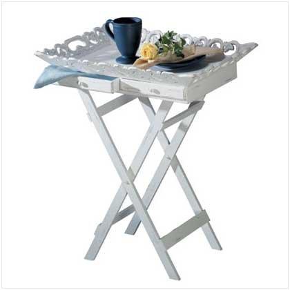 Shabby Chic Tray Table - Folding Shabby Table