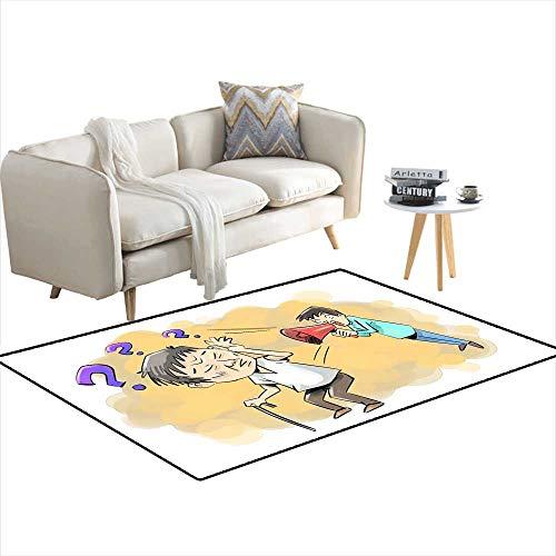 Kids Carpet Playmat Rug Geriatric Disease 4'x8'